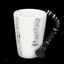 Tasse Porcelaine Fantaisie Note Musique avec Poignée Clarinette #1
