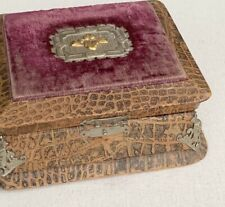 Antique Vintage Egyptian Revival Jewelry Box Palace Cincinnati Sphinx Corners