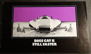 RARE 1972 ARCTIC CAT BOSS CAT II SPEED RUN SALES BROCHURE SINGLE PAGE (906)