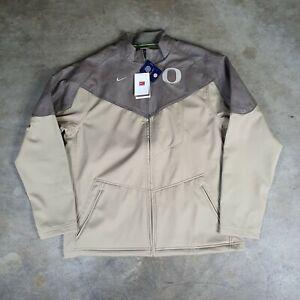 NWT Vintage Y2K Team Nike Oregon Ducks Leather Softshell Jacket Rare Large