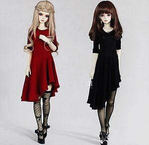 Oblique Hem Skirt Dress for BJD 1/6 1/4 1/3  SD13/16 Doll Clothes CWB1