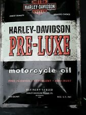 Nostalgic Art Harley Davidson Pre Luxe Motorcycle Oil USA Oil Sign