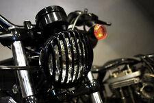 Griglia Ghiera Faro Nera Harley Davidson Dyna Street Bob Low Ride Wide Glide