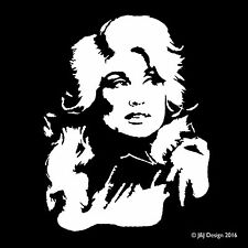 Dolly Parton Country Western Music Car Bumper Grand Ole Opry Decal Sticker White