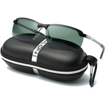 Mens Semi-Rimless Polarized Sunglasses UV400 OUT Sports Driving Eyewear