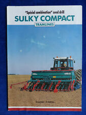 0292 Sulky Compact Seed Drill Combi Uk Leaflet Brochure 111993 England
