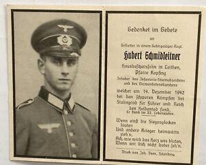 2.WK Sterbebild Deutscher Soldat Stalingrad 1942