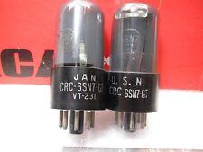 RCA VT 231 6SN7 GT   WELL-BALANCED PAIR Gm & Ip NOS  PLATINUM MATCHED  TUBE