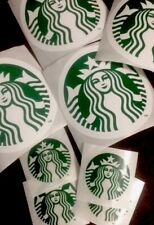 10x New Starbucks Coffee Vinyl Sticker Lot Decal 2 Sizes Large Small + Stickers