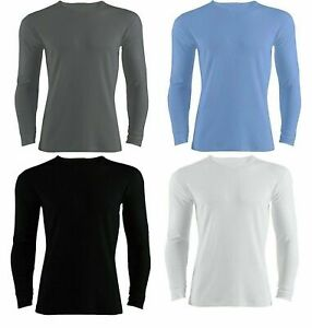 Pack of 2,4,6 Men's Thermal Long Sleeve  T Shirts  Top Winter Warmer Inner Vest