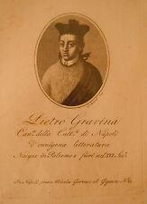 1820-ACQUAFORTE-ORIGINALE-RITRATTO-PIETRO GRAVINA-CATTEDRALE DI NAPOLI