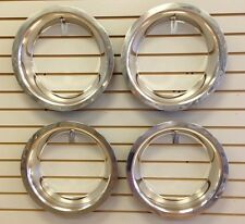 """15"""" 3"""" Deep Stainless Steel Beauty Trim Ring Set of 4 Fits 15x8 Rally Wheels"""