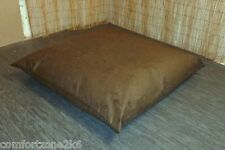 SQUARE FAUX SUEDE BEAN BAG FLOOR CUSHION BEANBAG 80 x 80 REMOVABLE OUTER COVER