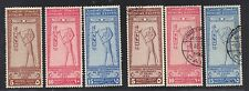 EGYPT 1925 INT'L GEOGRAPHICAL CONGRESS MINT & USED SETS S.G. 123-125