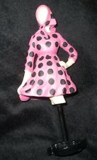 "Dress form figurine Willitts Pink Polka Dot Dress New, w/box, 7"" tall, free ship"