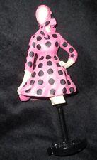 """Dress form figurine Willitts Pink Polka Dot Dress New, w/box, 7"""" tall"""