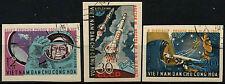 North Vietnam 1962 SG#N242-4 Team Maned Space Flights USed Imperf Set #D35493