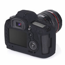 For Canon EOS 6D 5D Camera Black Silicone Rubber Protective Body Cover Case Skin