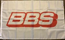 BBS Flag 3x5 White Banner Wheels Rims Car Garage Man Cave