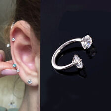 1x Ring CZ Crystal Gem Ball Barbell Ring Eyebrow Lip Nose Piercing