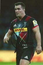 HARLEQUINS RUGBY UNION: DAVE WARD SIGNED 6x4 ACTION PHOTO+COA