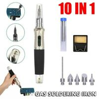 10 IN 1 Butane Gas Soldering Iron Kit Professional Auto Ignition Torch Box