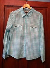 Womens Shirt Size 16 Papaya Pale Blue Check (B4)