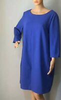 Debenhams Collection Shift Dress With Side Pockets Lined U.K. Size 16 Blue BNWT