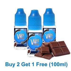 100ml E Liquid Vape Juice 70/30 VG/PG-0mg - 1.5mg - 3mg - 6mg Chocolate