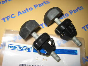 Ford Lincoln Hood to Fender Bumper Stop Adjuster OEM Genuine New Set of 2