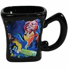 Marcia Baldwin Ceramic Coffee Mug with Jazz Blues Guitar Musician 14 oz