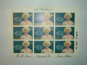 1980 PITCAIRN ISLANDS 50c THE QUEEN MOTHER 80th BIRTHDAY MINISHEET (sg206) MNH