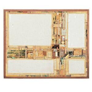 "Mixed Media Collage Roderick Slater Signed Original Art 16x20"" Wood framed NICE!"