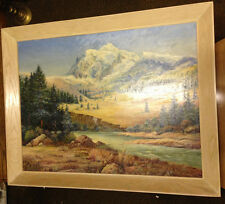 S. Novy Beautiful Mountain Scene Oil Painting