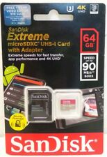 SanDisk 64GB Extreme MicroSD SDXC UHS-I U3 V30 90MB/S Memory Card Class 10 +Adap
