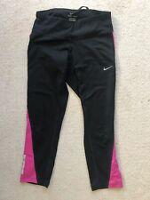 Nike Black And Pink Womens Small Dri Fit Capri Running Workout Pants