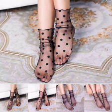 Fashion Women's Ruffle Fishnet Ankle High Sock Mesh Lace Fish Net Short Socks