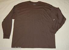 MENS Long Sleeve knit Tee Shirt Grayish Brown Fruit of the Loom 3XL 54-56