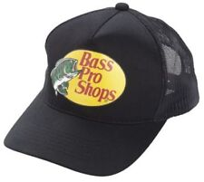 NEW! Black Cap by BASS PRO SHOPS Adult Unisex MESH Style Trucker Hat  B