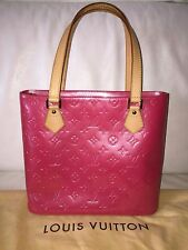 Authentique sac LOUIS VUITTON Houston Cuir Framboise Handbag