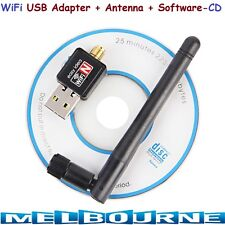 Wireless Adapter WiFi Dongle Driver Software CD Antenna Long Range LAN USB 150M