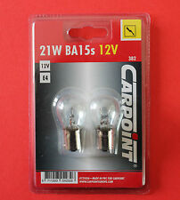 "1 x Pack of 2 P21W 382 12V Replacement Clear Bulbs for Stop & Indicators ""NEW"""