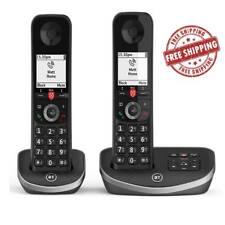 BT Cordless Phone Answer Machine Landline House Remote Black Twin Handset UK