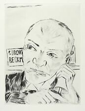 MAX BECKMANN - DER AUSRUFER (ZIRKUS BECKMANN) - Kaltnadel 1921/1984