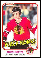 1981 82 OPC O PEE CHEE 65 DARRYL SUTTER NM RC CHICAGO BLACK HAWK HOCKEY CARD