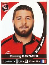 153 tommy raynaud # us. oyonnax rugby top 14 rugby sticker panini 2018