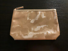 $30 Lancome Luxury Golden Zip Beauty Travel Cosmetic Bag Pouch *NEW*