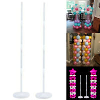 2 Sets Plastic Balloon Arch Column Stand + Base Wedding Birthday Party Decor