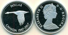 1967-2017 CANADA $1 Canada Goose 99.99% silver from Centennial set proof finish