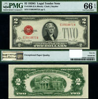 FR. 1508 $2 1928-G Legal Tender E-A Block Gem PMG CU66 EPQ